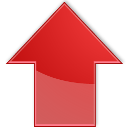 fat red arrow up